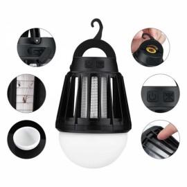 Outdoor Garden Mosquito Killer Light IPX6 Waterproof Night Lantern Black