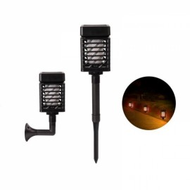 Rectangle Shaped Solar LED Flickering Flame Torch Light Outdoor Waterproof Landscape Decor for Garden Lawn