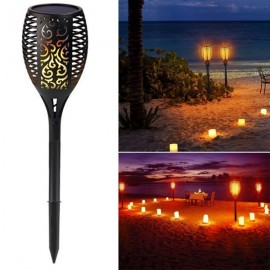 96 LED Waterproof Solar Flickering Flame Light Outdoor Garden Lawn Light