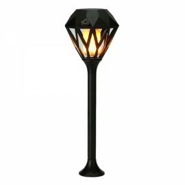 Diamond Shaped Solar LED Flickering Flame Torch Light Outdoor Waterproof Landscape Decor for Garden Lawn