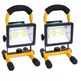 2pc 30W COB Rechargeable Outdoor Flood Light Lamp