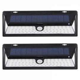 2pcs 90 LED 3 Modes Wide Angle Solar Motion Sensor Outdoor Wall light