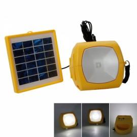 N710 1.5W Multifunctional High Brightness Emergency Solar Energy LED Light with FM Yellow