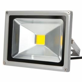 20W 3000-3500K Warm White Light Aluminium Alloy LED Flood Light with IP65 Waterproof Gray