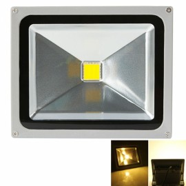 30W 3000-3500K Warm White Light Aluminium Alloy LED Flood Light with IP65 Waterproof Gray
