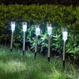 5pcs Waterproof LED Solar Power Light Automatically Illuminates Yard Garden Lamp