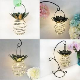 2pcs New Garden Solar Lights Pineapple Lights Hanging Outdoor Decor Waterproof Wall Lamp Decorative Lamp