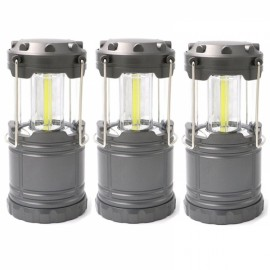 3pcs Outdoor Portable COB Camping Light for Hiking Size S - Grey