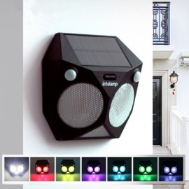 Waterproof Solar Power Wall Light Dual PIR Motion Sensor RGB Garden 7 Colors