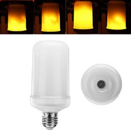 E27 5W 1800K SMD2835 99LEDs Yellow Flickering Flame Light Bulb AC85-265V