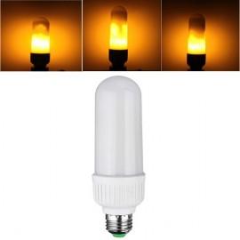 E27 5W SMD2835 99LEDs Three Modes Yellow Flame Corn Light Bulb AC85-265V
