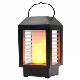 Outdoor Waterproof Portable Hanging Camping Tent Lantern 18650 Batteries Rechargeable Dual Power Supply LED Flame Light