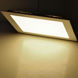JR-18W-WW 18W 3500K 1600LM SMD 2835 LED Warm White Square Ultrathin Panel Light (90-265V) White