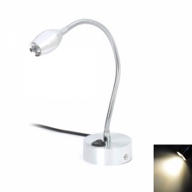 ZYW-LED002 1W 1-LED 90lm 6500-7000K White Light Wall Mount Lamp Silver (AC 100-240V)