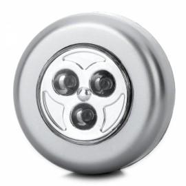 0.8W 3-LED 70lm 7000K White Light Emergency Lamp Silver