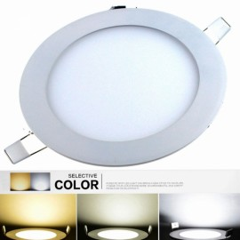 YX12+12 24W 1920LM 6000K-3000K-4500K 48-SMD5630 LED Changeable Light Round Ceiling Lamp (AC 85-265V)