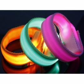 Outdoor LED Bracelet Flashing Wristband Sports Party Fun 3 Mode - Pink