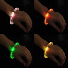 2pcs Acrylic Colorful LED Flashing Bracelets Random Color