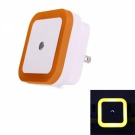 LED Wall Night Light 0.5W Smart Sensor Square US Plug - Orange