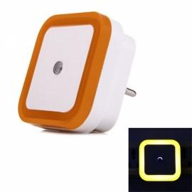LED Wall Night Light 0.5W Smart Sensor Square EU Plug - Orange