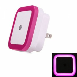 LED Wall Night Light 0.5W Smart Sensor Square US Plug - Rose Red