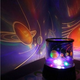 Colorful Rotary Laser Projector Lamp - Romantic Star Sky Style