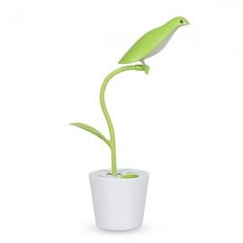 Creative Bird Touch Sensitive LED Desk Lamp Reading Light with Pen Holder Green