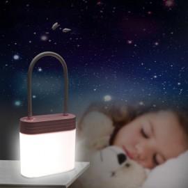 3 Modes Adjustable Lock Shaped LED Desk Lamp USB Powered Night Light Red
