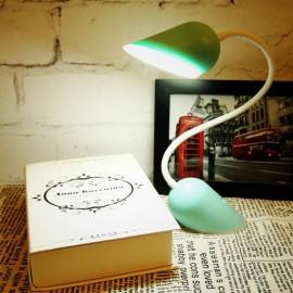 Portable Creative Heart-shaped Lock White Light Adjustable Folding Lamp Green
