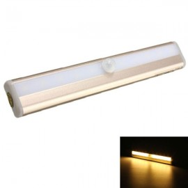 10-LED PIR Motion Sensor Night Light Battery Operated Rose Golden - Warm White