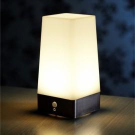 Wireless PIR Motion Sensor Table LED Night Light Battery Powered Square