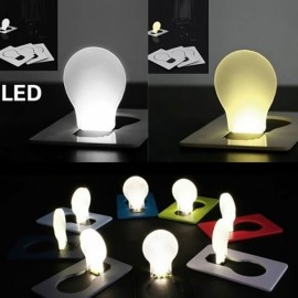 Mini LED Card Folding Light Portable Pocket Night light Random Color
