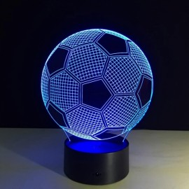 Football 3D Illusion 7-Color LED Night Light Touch Switch Table Lamp