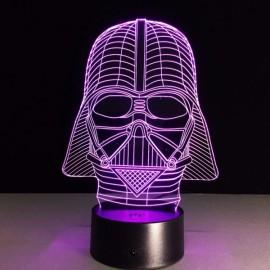 Black Knight 3D Illusion 7-Color LED Night Light Change Table Desk Lamp