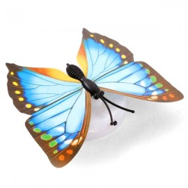 3D Flashing LED Butterfly Wall Night Light Sticker Decor 7 Color Random
