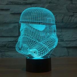 3D Illusion Night Light Warrior LED Lamp 7-Color Change Kids Gift