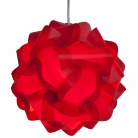 30pcs 30cm Ceiling DIY IQ Jigsaw Puzzle Lamp Shade Lamp Cover Red M