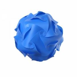 30pcs 30cm DIY Puzzle Lamp IQ Jigsaw Light w/ Min 15 Different Designs Blue M