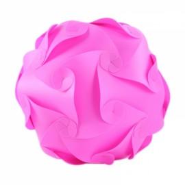 30pcs 30cm IQ DIY Puzzle Lamp Jigsaw Light w/ 15 Designs Pink M