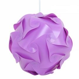 30pcs 30cm Lamp Puzzle Lampshade IQ Ceiling DIY Jigsaw Light Purple M