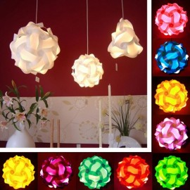 30pcs 30cm IQ Puzzle Jigsaw Light shade Ceiling DIY Cover Rose Red M