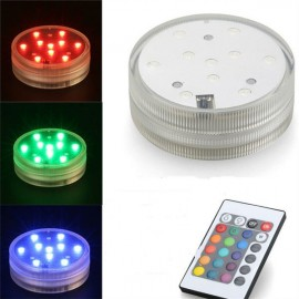 Colorful LED Lighting Effect Waterproof Infrared Remote Control Submersible LED Diving Light
