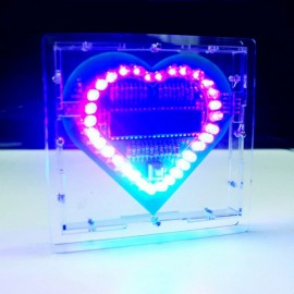 Heart Shaped LED Lights Kit for DIY Project Green PCB + Cable + Shell