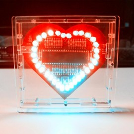 Heart Shaped LED Lights Kit for DIY Project Red PCB + Cable + Shell + Charger