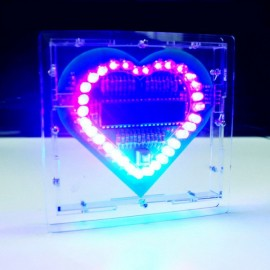 Heart Shaped LED Lights Kit for DIY Project Green PCB + Cable