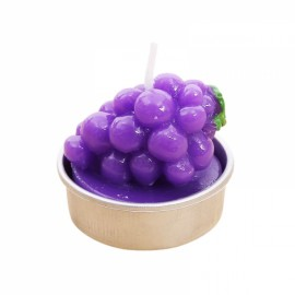 6pcs Rare Simulation Plant Candle Mini Smokeless Candle Home Garden Decor Purple Grape