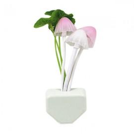 LED Sensor Lotus Leaf Mushroom Wall Lamp Night Light - EU Plug