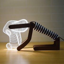 Innovation Eletronics 3D Black Dog Shape White LED Desk Table Lamp Adjustable Light Source UK Plug