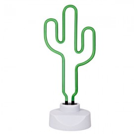 Neon Sculpture Night Light Small Anchor White & Green