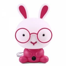 Pretty Cute Rabbit Dog Cartoon Animal LED Night Light Baby Room Sleeping Light Bedroom Desk Lamp Night Lamp Best for Gifts Smart Rabbit Pink